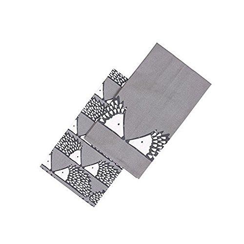 Spike The Hedgehog Set Of 2 Grey Tea Towels By Scion Living
