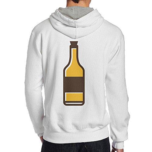 Men Beer Cross-country Vintage Hoodie Hooded Sweatshirt Size XL White