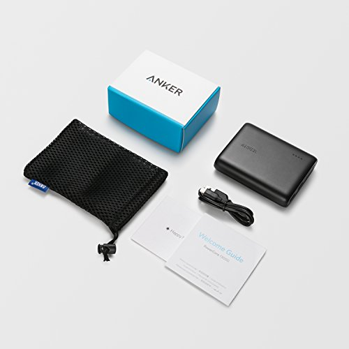 Anker PowerCore 13000 mobile or portable Charger sleek and eye-catching 13000mAh 2 Port very mobile or portable cellphone Charger power Bank by using PowerIQ and VoltageBoost technology for iPhone iPad Samsung Galaxy Black External Battery Packs