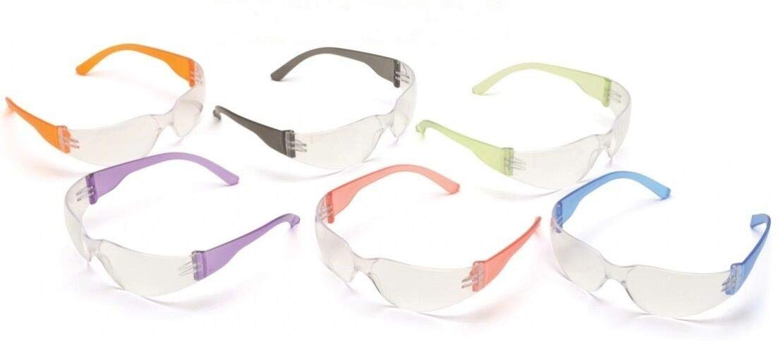 09884d2be70 Safety Eyewear UV Protection Glasses By Tuff America - Mini Clear Lens    Colored Temple -