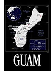 Guam: Map of Guam Notebook