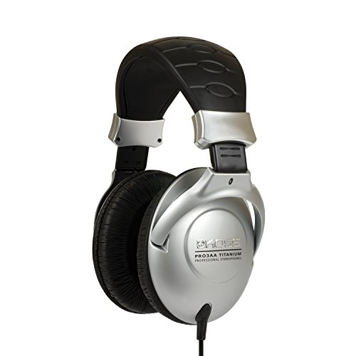 Koss PRO3AA Collapsible Closedear Over-the-Ear Headphones With Adjustable Headband - Black/Silver