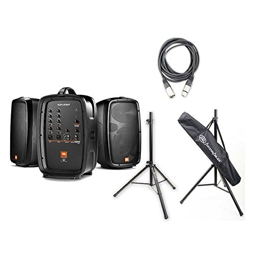 EON206P - Portable 6.5'' Two-Way System with with 2 On Stage Speaker Stands and Hosa 10 Ft XLR Female To XLR Male Cable by JBL (Image #4)