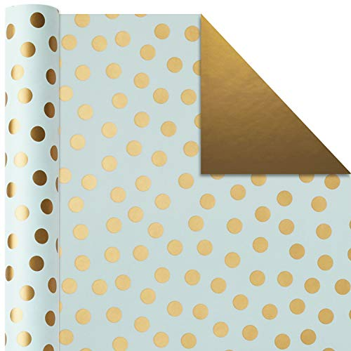Hallmark All Occasion Reversible Wrapping Paper (Modern Metallics, Pack of 3, 120 sq. ft. ttl.) for Mothers Day…