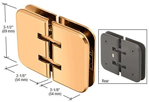 CRL Estate 180 Series Gold Plated 180° Glass-to-Glass Hinge by C.R. (Series Gold Plated Glass)