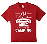 Kids Retirement plan Addicted to Travel and Camping T-shirt 10 Cranberry