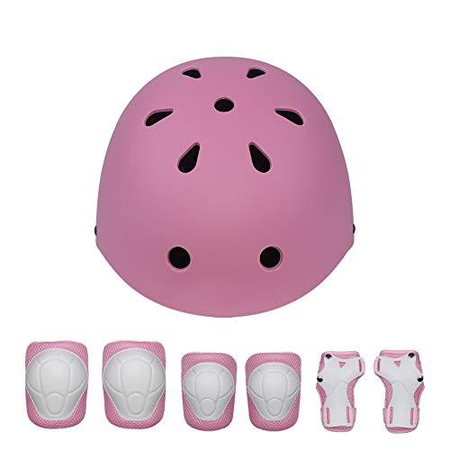 WEDSGTV Children's Skateboard Helmet Protective Gear Set Knee Pads Elbow Pads Wrist And Adjustable Bike Helmets Use For…