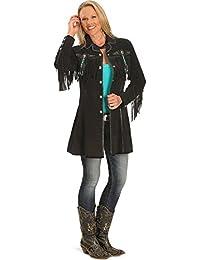 Women's Beaded Fringe Coat - L615-27