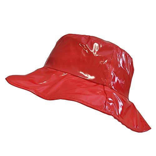 TOUTACOO, Wide-Brimmed Vinyl Rain Hat Red ()