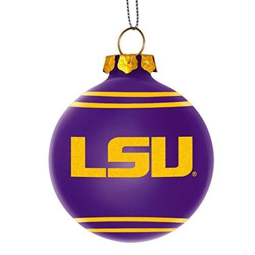 Tigers Team Logo Glass (NCAA College Team Glitter Logo Glass Ball Ornament - Pick Team (LSU Tigers))