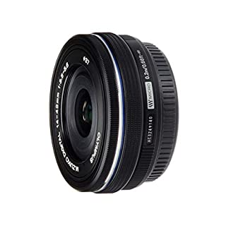 Olympus M.Zuiko Digital ED 14-42mm F3.5-5.6 EZ Lens, for Micro Four Thirds Camera (Black)