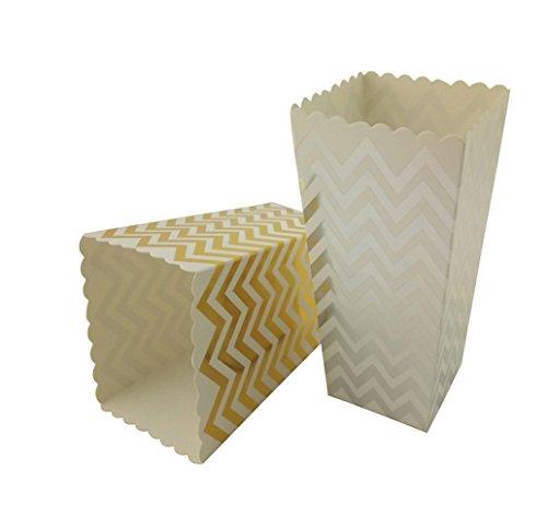 silver mini popcorn boxes - 7