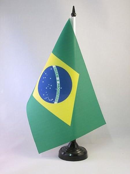 AZ FLAG Bandera de Mesa de Brasil 21x14cm - BANDERINA de DESPACHO ...