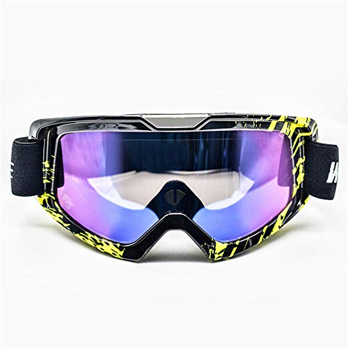 WJH Cross-Country Knight Anti-Fog Goggles, Motorcycle Outdoor Impact Goggles - Suitable for Skiing/Skating/Snowboarding/Climbing/Outdoor Riding,Blackyellow (Country Skating Skiing Cross)