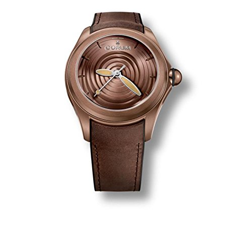 Corum Men's Heritage Bubble Brown Leather Band IP Steel Case Automatic Analog Watch 082.311.98/0062 OP01 R