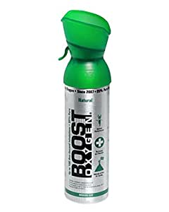 Boost Oxygen Natural Energy new medium size 100 inhalations