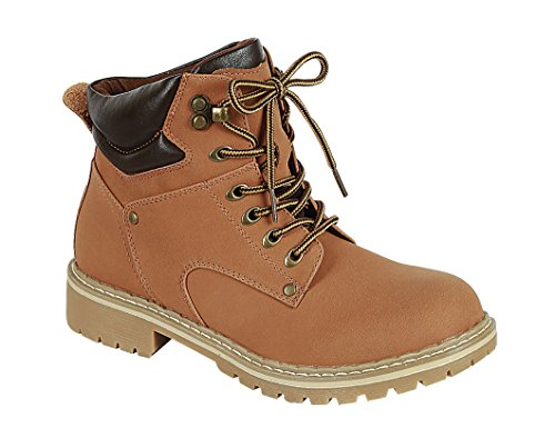 Work Toe Lug Ankle Select Closed Sole Round Cambridge Lace Collar Padded Tan up Women's Hiking Boot PUFzYx