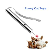 Elisona-2 in 1 Multi Function LED Torch Flashlight Interactive Light Pointer for Cat Dog Training