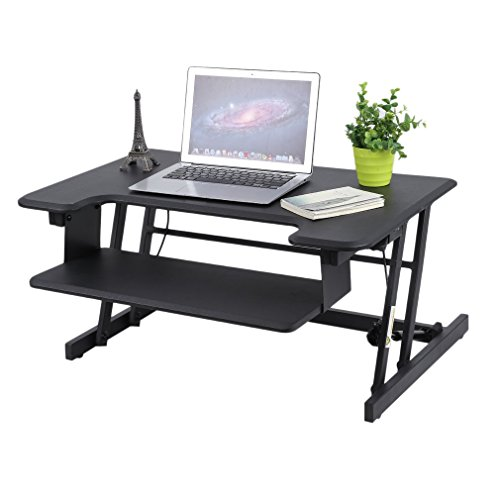 Homgrace Height Adjustable Standing Desk Converter (Black) by Homgrace