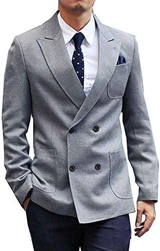 ダブルブレザー メンズ テーラードジャケット ダブル カジュアル ビジネス 紳士