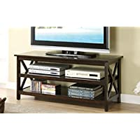 Poundex F4513 Dark Finish Wood TV Stand