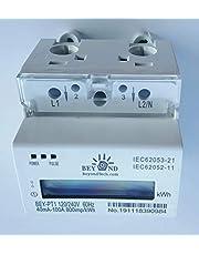 Pass-through DIN Rail 120 240 Volts. KWh energy meter