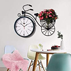 MGE UPS Systems Clock Wall Clock,Wall Clock The Iron Wall Clock Room Shows A Creative Personality Atmosphere of The Art of A Super Silent Simple Clock (Color : C)