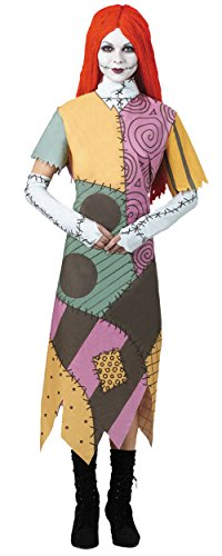 Disguise Women's Tim Burton's The Nightmare Before Christmas Sally Classic Costume, Mulit, (Plus Size Sally Costume)