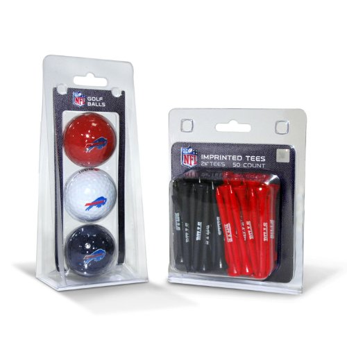 Used, NFL Buffalo Bills 3-Pack Golf Balls, 50-Pack Team Tees for sale  Delivered anywhere in Canada