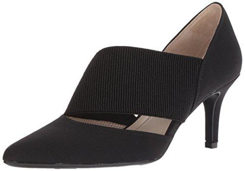 Ladies Dress Shoes Wide Width - LifeStride Women's Sarita Pump, Black Fabric, 6.5 W US