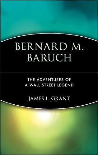 Book Bernard M. Baruch: The Adventures of a Wall Street Legend