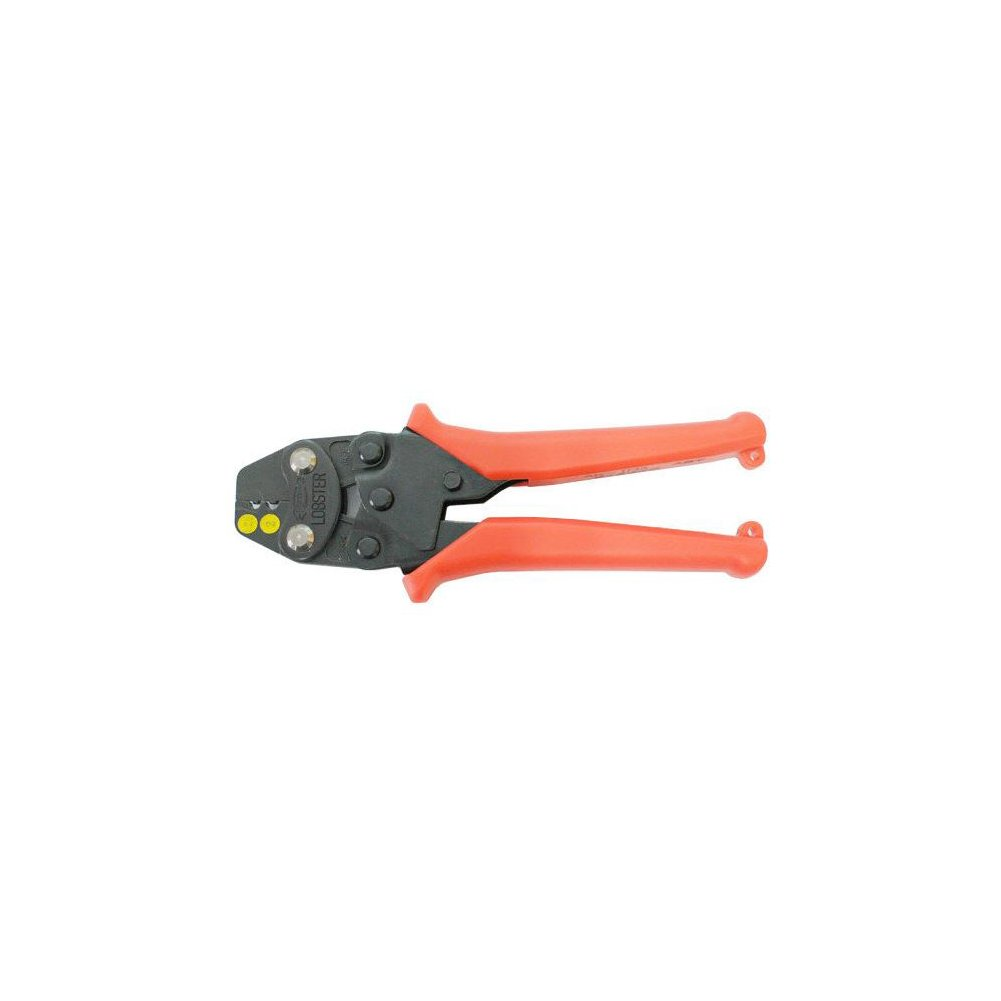 LOBSTER AK-1MA Professional Wire Terminals Connector Ratcheting Crimper / SQ : 1.25 , 2 / Crimping tool Terminal Crimper Powerful Strength Easy Grip Cutter Professional Plier / Made in Japan