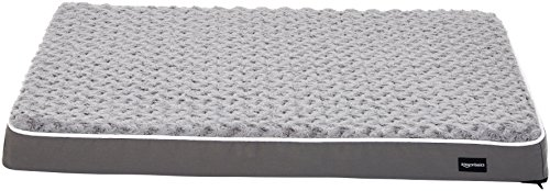 AmazonBasics Ergonomic Foam Pet Dog Bed, 27 x 36...