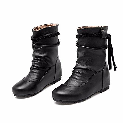 Shoes Black Big and Shoes Boots Tassels Autumn Women's Yards Winter Women's RFF S8PqgwS