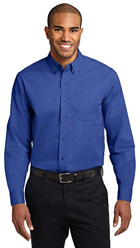 Port Authority Long Sleeve Easy Care Shirt, Royal/ Classic Navy, X-Large