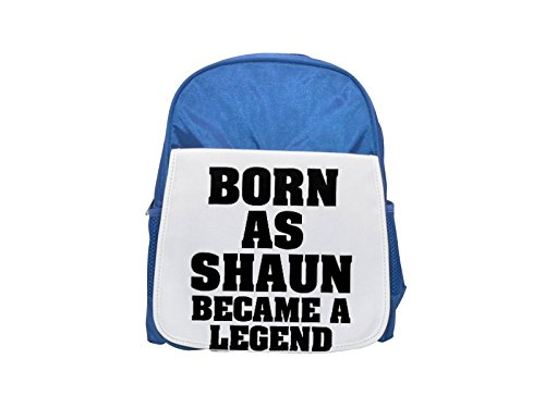 Born as SHAUN, became a legend printed kid's blue backpack, Cute backpacks, cute small backpacks, cute black backpack, cool black backpack, fashion backpacks, large fashion backpacks, black fashion ba