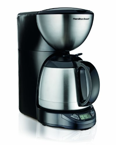 Hamilton Beach 10-Cup Coffee Maker, Programmable with Thermal Insulated Carafe (49855) - Gourmet ...