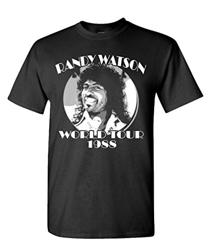 - Randy Watson World Tour - Retro Movie Funny - Mens Cotton T-Shirt, 3XL, Black