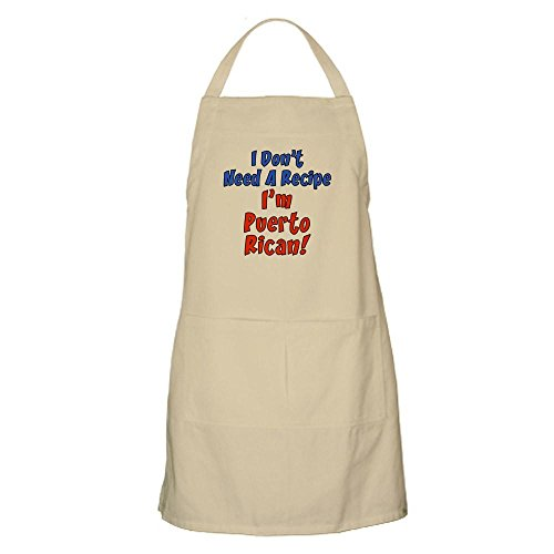 CafePress I Don't Need A Recipe Puerto Rican Apron Kitchen Apron with Pockets, Grilling Apron, Baking Apron -