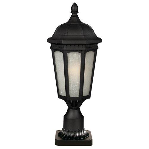 Z-Lite 508PHB-BK-PM Newport 1 Light Outdoor Post Mount (Newport Post Mount)