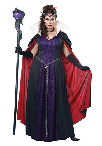 California Costumes Women's Plus-size Evil Storybook Queen - Adult Plus Women Costume Adult Costume, -black/purple/lavender, 1XL -