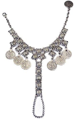 Zealmer Silver Charms Bracelets Floral