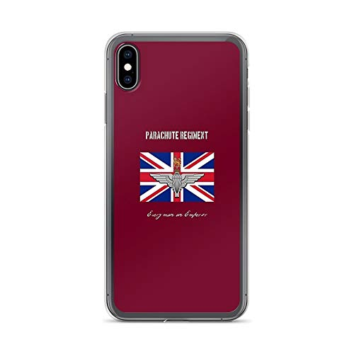 iPhone Xs Max Pure Clear Case Cases Cover Parachute Regiment (UK) Every Man an Emperor