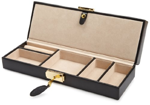 Amazoncom WOLF 280302 Heritage Safe Deposit Box Black Watches