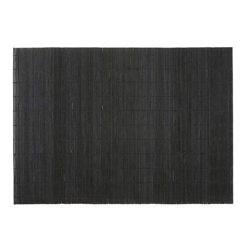 BambooMN Brand - Bamboo Placemat/Sushi Rolling Mat - 12.75'' x 18.5'' - Black, 8 pcs by BambooMN (Image #1)