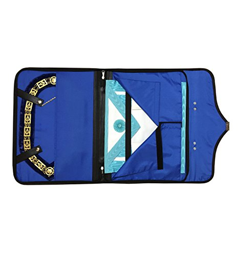 Masonic Regalia Smart Briefcase for apron and chain collar HRD Black
