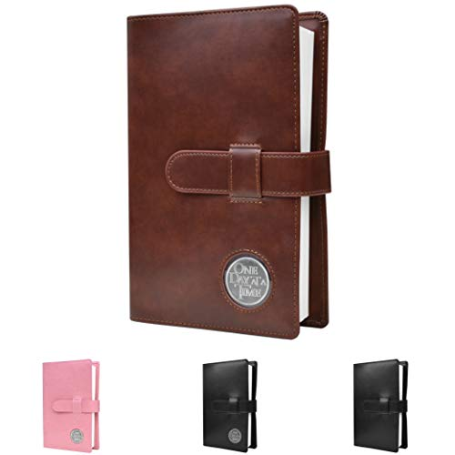 Single AA Big Book Cover | Medallion Holder | by Galileo | Perfect Gift | Alcoholics Anonymous (Plain/Coin Pocket/Brown)