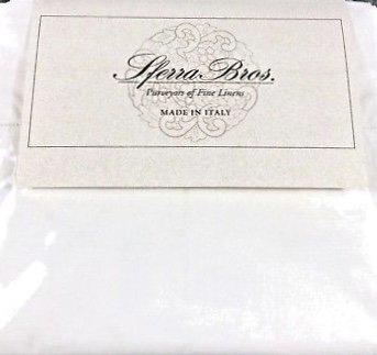 - SFERRA Italian Sateen King White (2) Pillowcases 100% Long Staple Cotton Made in Italy