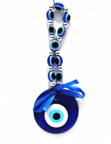 Blue Evil Eye Hanging Decoration Ornament for Protection (With a Betterdecor pouch)-012