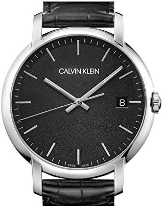 Calvin Klein Quartz Montre avec Bracelet en Cuir K9H211C1